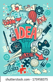 Conceptual representation of an idea or inspiration