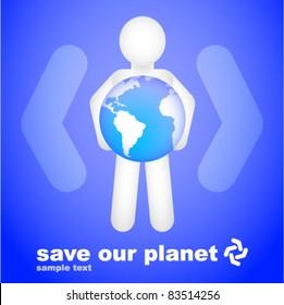 Conceptual Save Our Planet Design (Blue)