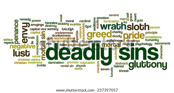 Conceptual Tag Cloud Containing Words Related Stock Vector
