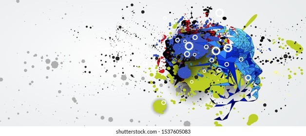 Conceptual technology illustration of artificial intelligence. Abstract futuristic background - Shutterstock ID 1537605083