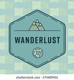 Conceptual vector symbol reading wanderlust