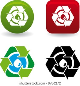conceptual water recycling symbol