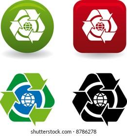 conceptual world recycling symbol