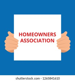 Conceptual writing showing Homeowners Association. Vector illustration
