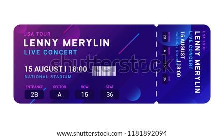 concert entrance vector ticket templates party stock vector royalty
