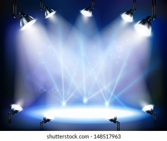 concert hall with spotlights