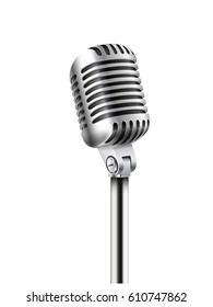 Concert microphone vector illustration isolated on white