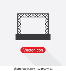 Concert Stage Icon Vector Illustration Eps10