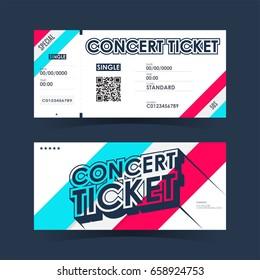 Concert invitation images stock photos vectors shutterstock concert ticket card element template for design vector illustration stopboris Choice Image