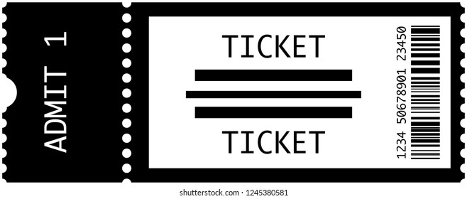Concert tickets vector illustration in black and white