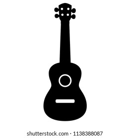 Concert Ukulele - Hawaiian string musical instrument. Vector illustration.