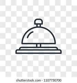 concierge bell vector icon isolated on transparent background, concierge bell logo concept