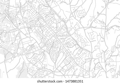 Concord, North Carolina, USA, bright outlined vector map with bigger and minor roads and steets created for infographic backgrounds.