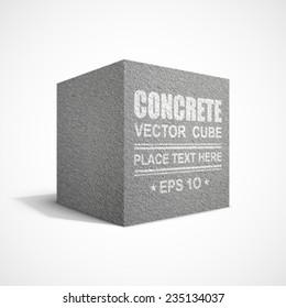 Concrete cube.