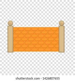 Concrete fence icon. Cartoon illustration of concrete fence vector icon for web