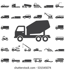 concrete mixer icon. Transport icons universal set for web and mobile