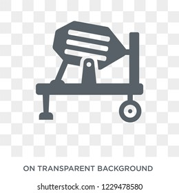 Concrete mixer icon. Trendy flat vector Concrete mixer icon on transparent background from Construction collection. High quality filled Concrete mixer symbol use for web and mobile
