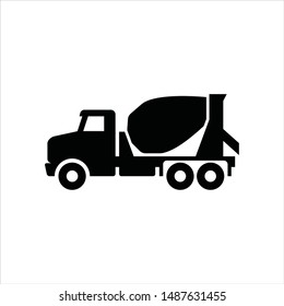 Concrete Mixer Truck. Vector logo.