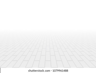 Concrete paver block pavement floor or brick vector background in perspective. Cement or stone material for outdoor garden by paving on ground to create seamless rectangle pattern of road, patio.