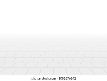 Concrete paver block pavement floor or brick vector background in perspective. Cement or stone material for outdoor garden by paving on ground to create seamless square pattern of sidewalk and patio.