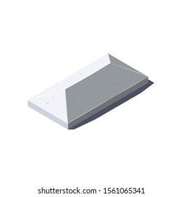 Concrete slab icon in isometric view. Building materials for construction purposes. Vector illustration isolated on a white background in flat style.