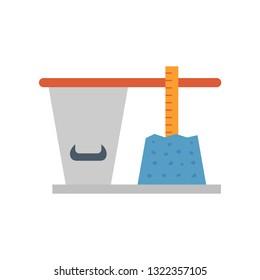 Concrete slump testing icon design.