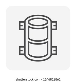 Concrete strength testing icon, 64x64 perfect pixel and editable stroke.