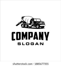 Concrete truck with retro and classic style design