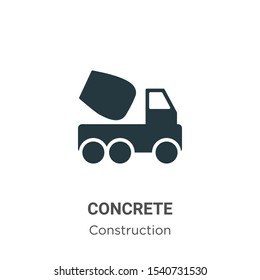 Concrete vector icon on white background. Flat vector concrete icon symbol sign from modern construction collection for mobile concept and web apps design.