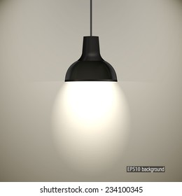 concrete wall and ceiling lamps. eps10 vector