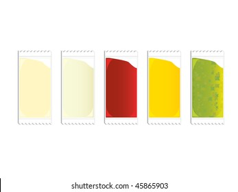 Condiment packets - vector version