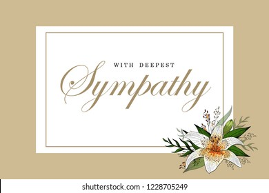Sympathy Card Template High Res Stock Images Shutterstock