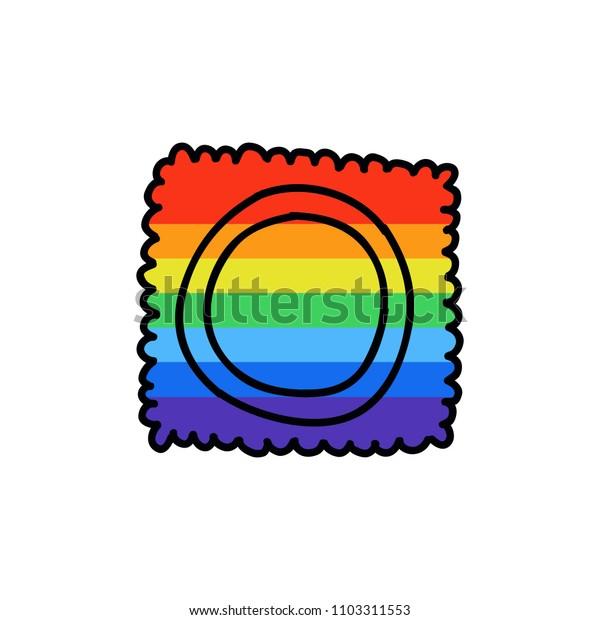 condom doodle icon