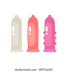 condom icons. vector illustration