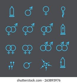 condom and sex icon