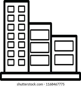 condominium vector icon