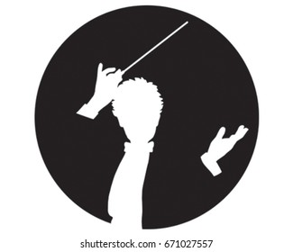 Conductor Vector Illustration. Music Icon.