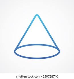 Cone icon in line style