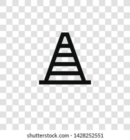 cone icon from miscellaneous collection for mobile concept and web apps icon. Transparent outline, thin line cone icon for website design and mobile, app development