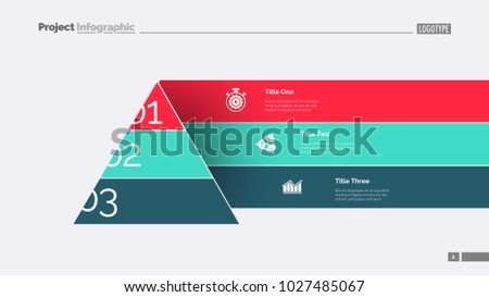 cone staircase diagram slide template stock vector royalty free
