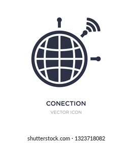 conection icon on white background. Simple element illustration from Technology concept. conection sign icon symbol design.