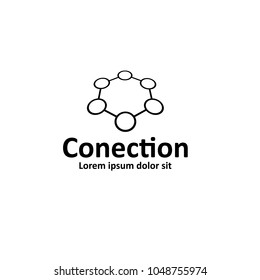 conection vector icon. Can be used as logo ro icon