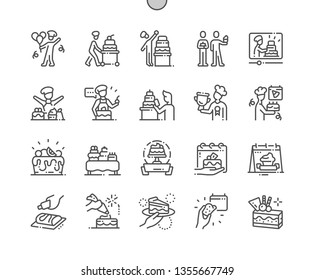 Confectioner's Day Well-crafted Pixel Perfect Vector Thin Line Icons 30 2x Grid for Web Graphics and Apps. Simple Minimal Pictogram