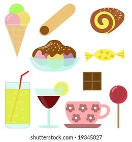 Confectionery - clip-art