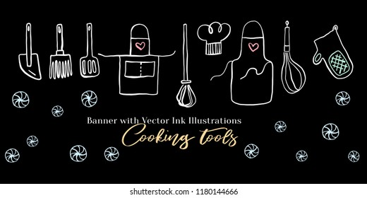 Confectionery emblem black ink line art vector icon for sweet shop sign and cafe app.