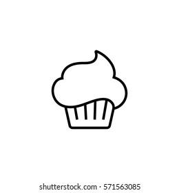 Confectionery line icon, cupcake