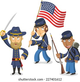 Civil War Cartoon High Res Stock Images | Shutterstock
