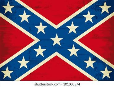 Confederate flag grunge