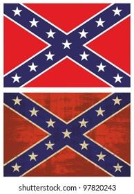 Confederate Flag. Grunge Rebel flag.