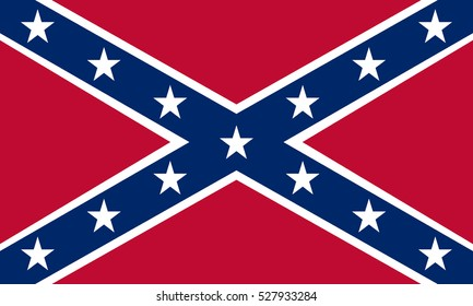 Confederate Rebel Flag vector